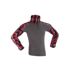 chemise de combat invader gear flannel rouge