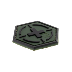 patch hexagonal velcro medic cible vert