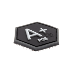 patch hexagonal velcro groupe sanguin a+
