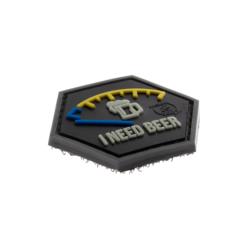 patch hexagonal velcro i need beer biere