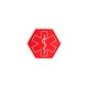 patch hexagonal velcro paramedic medic rouge