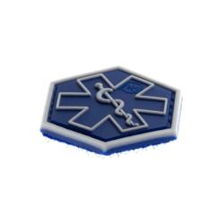 patch hexagonal velcro paramedic medic bleu