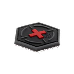 patch hexagonal velcro medic cible rouge