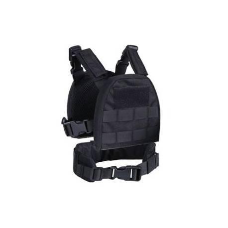 veste tactique noire + ceinture pour enfant s&t