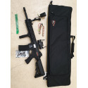 pack M4 lancer tactical lt-12 ris evo polymere  + batterie 9.6v + chargeur + point rouge + housse