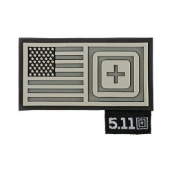 patch 5.11 drapeau us short stack gris 511-81073