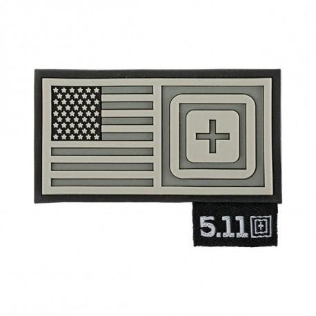 patch 5.11 drapeau us short stack gris 511-81073