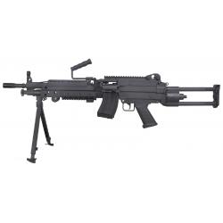 FN m249 noir aeg 200814 + batterie 9.6v + chargeur batterie