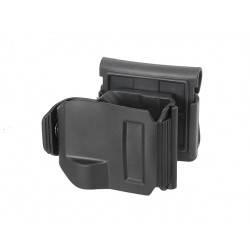 holster clip noir pour glock + bloc lampe