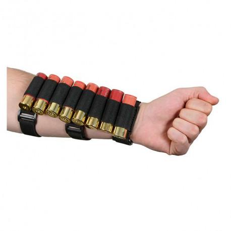 porte cartouche pour 8 douilles de fusil à pompe noir pour bras ou crosse 8fields