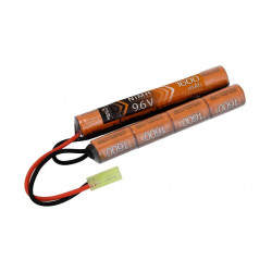 batterie nimh 9.6v 1600 mah double battons crosse crane lancer tactical