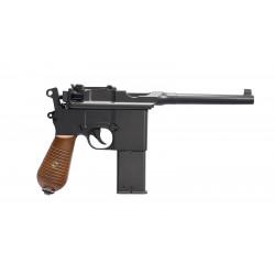 Réplique pistolet gnb à gaz C96 noir full metal 1,3J HFC hg-196
