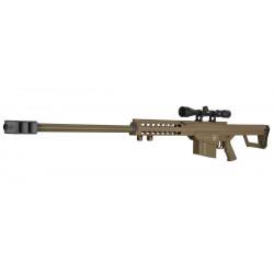 lt-20 sniper m82 barrett tan spring lancer tactical + lunette 4x40