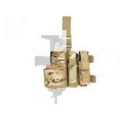 holster SMG mp7 mp9 mp5k reglable multicam + 2 portes chargeurs 8fields