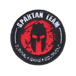 patch velcro casque spartan rouge team survival game equipement