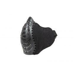 demi masque tissu  et plastique  noir FMA