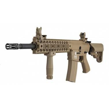 pack AEG LT-12 gen2 m4 TAN ris lancer tactical + batterie 9.6v + chargeur regulé