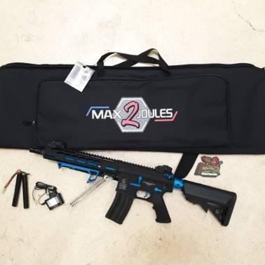 pack PROMO M4 Full metal HORNET BLUE AEG + poignee +batterie + housse M2J