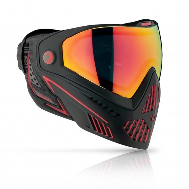 masque DYE I5 thermal DYECAM FIRE noir / ROUGE 2.0