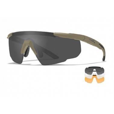 lunettes balistiques TAN SABER advanced + 3 verres