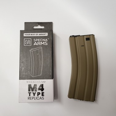 chargeur metal TAN 300bb's hi-cap m4 specna arms