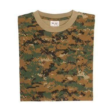 T shirt digital woodland
