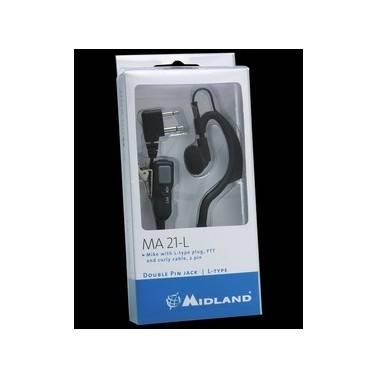 Contour oreille avec micro cravate pour ALAN hp450/g8/g7/g14/m99
