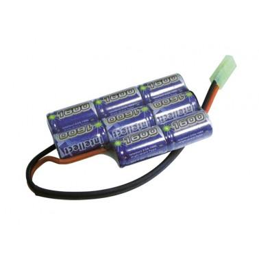 Batterie Intellect nimh 9.6v 1600 mah pour boitier PEQ 603355