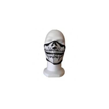 demi masque neoprene tete de mort