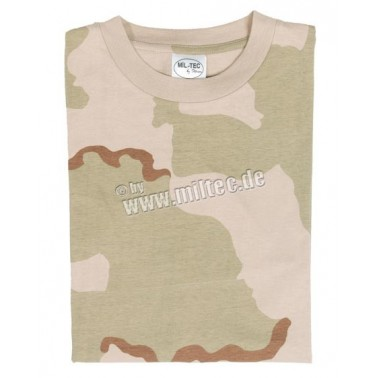 T-shirt tarn 3 color desert miltec