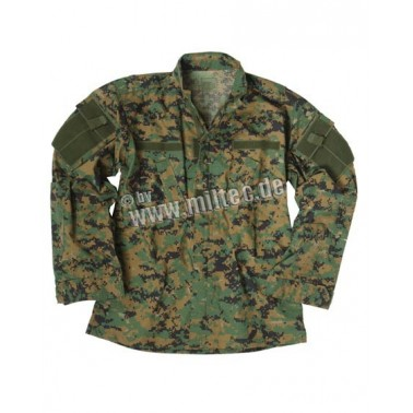 VESTE ACU (ARMY COMBAT UNIFORM) RIPSTOP DIGITAL woodland