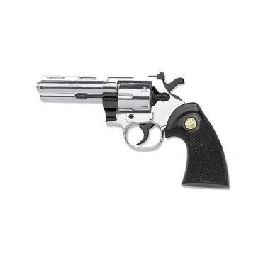 "Revolver KIMAR Python 4"" c380 nickelé 9mm à blanc"