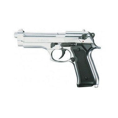Pistolet Kimar 92 semi auto 9mm à blanc CHROME 7009