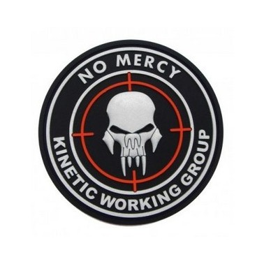 Patch 3d velcro no mercy noir