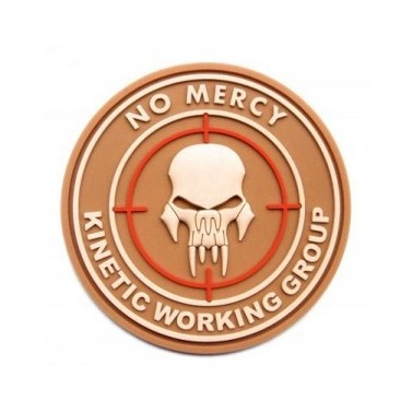 Patch 3d velcro no mercy  tan