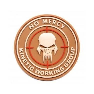 Patch 3d velcro no mercy  tan