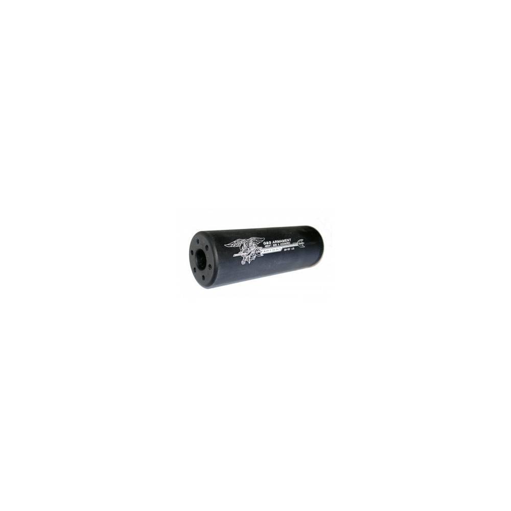 Silencieux plein ss-100 g&g noir 14mm neg diam 30mm l:100mm