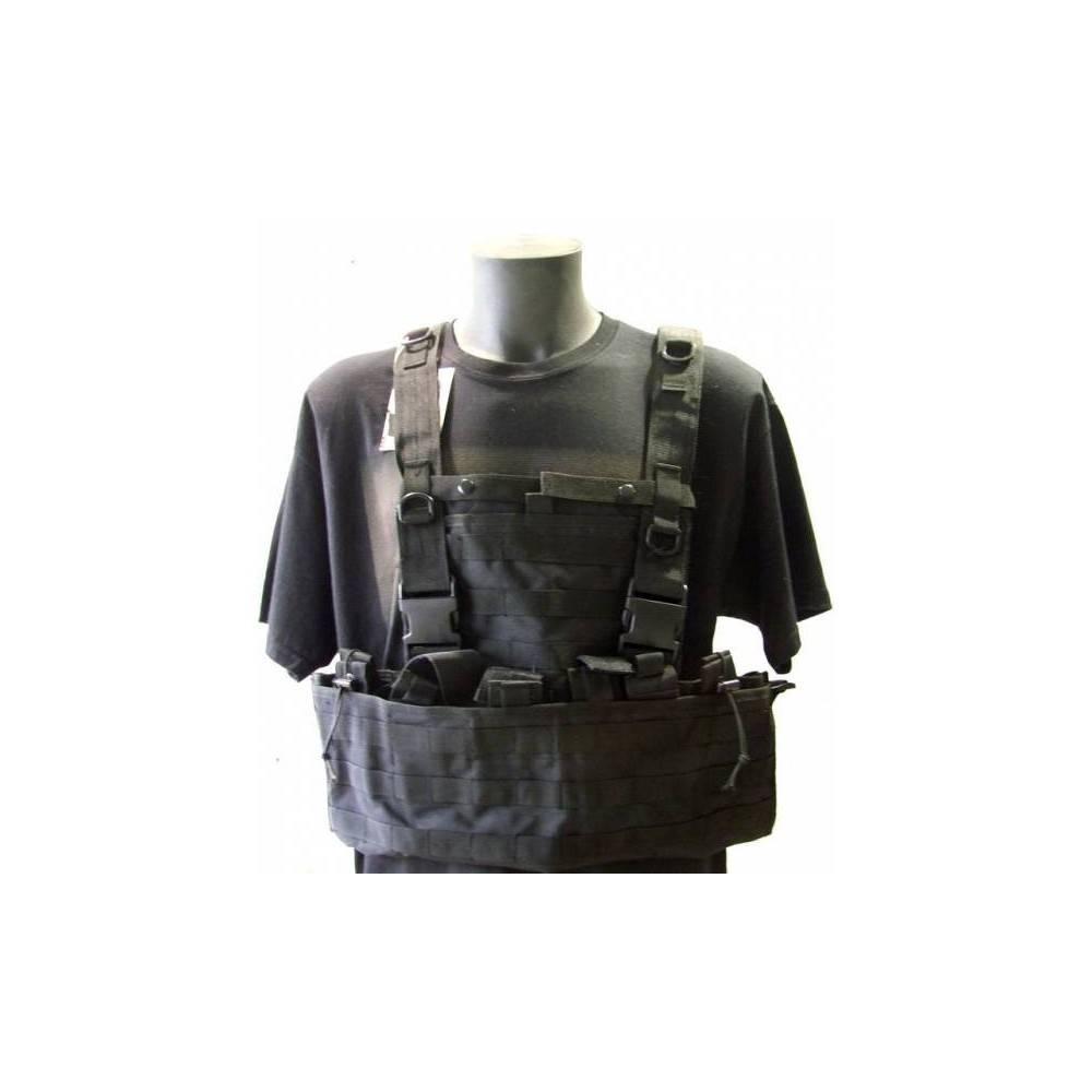 gilet tactique MOLLE noir swiss arms 604034