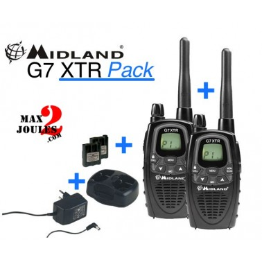 Radio midland G7 pro lot de 2 talkies
