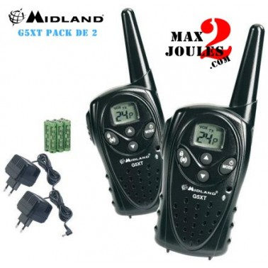 RADIO MIDLAND G5 XT LOT DE 2 TALKIES