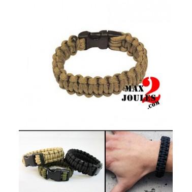 bracelet paracorde tan  larg 15mm