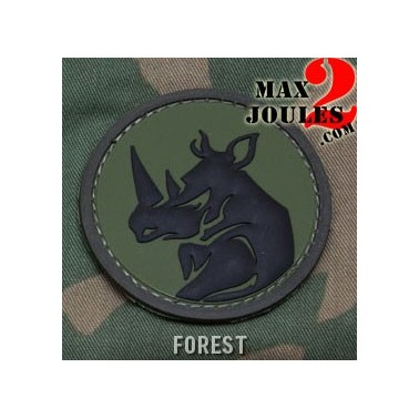 patch velcro pvc rhino head foret