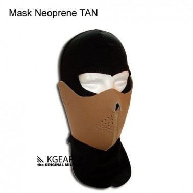 demi masque neoprene Tan