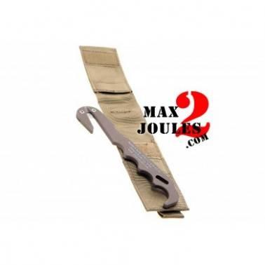 outil couteau de secours avec pochette molle Tan