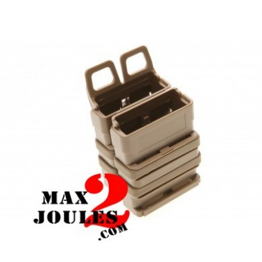porte chargeurs (lot de 2 simple) molle Fast mag friction gen 3 TAN