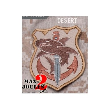 patch velcro tac shark desert