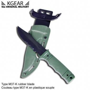 couteau factice OD  type SOG M37K seal PUP avec fourreau