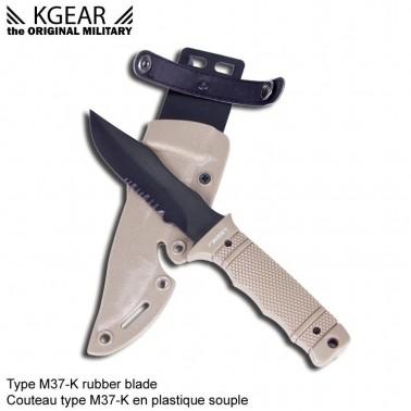 couteau factice TAN  type SOG M37K seal PUP avec fourreau
