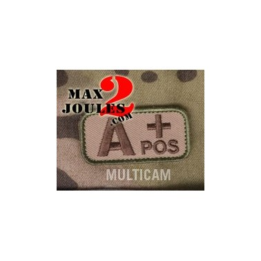 patch velcro groupe sanguin AB+ multicam