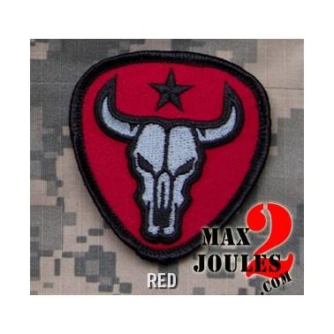 patch velcro bull skull rouge
